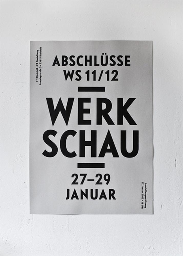Werkschau Plakat, © FH Bielefeld